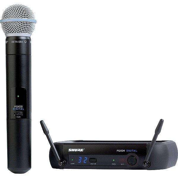 Microfone Shure Digital PGXD24 BETA58-X8