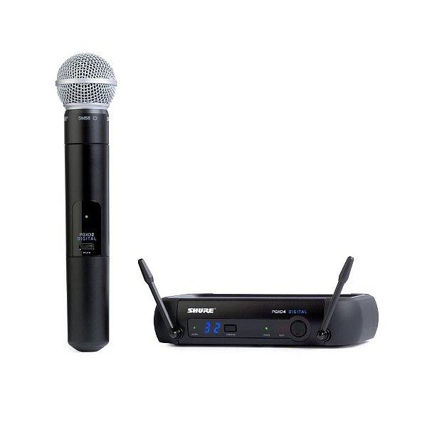 Microfone Shure Digital PGXD24 SM58-X8