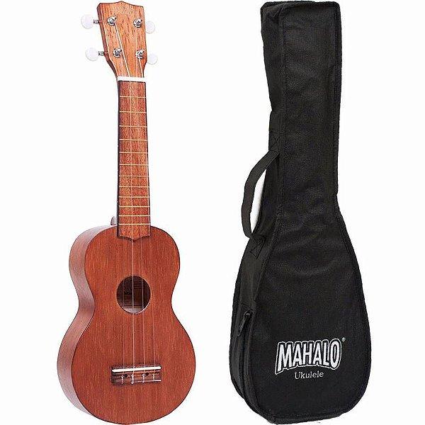 Ukulele Mahalo Kahiko Soprano MK1TBR Natural com capa