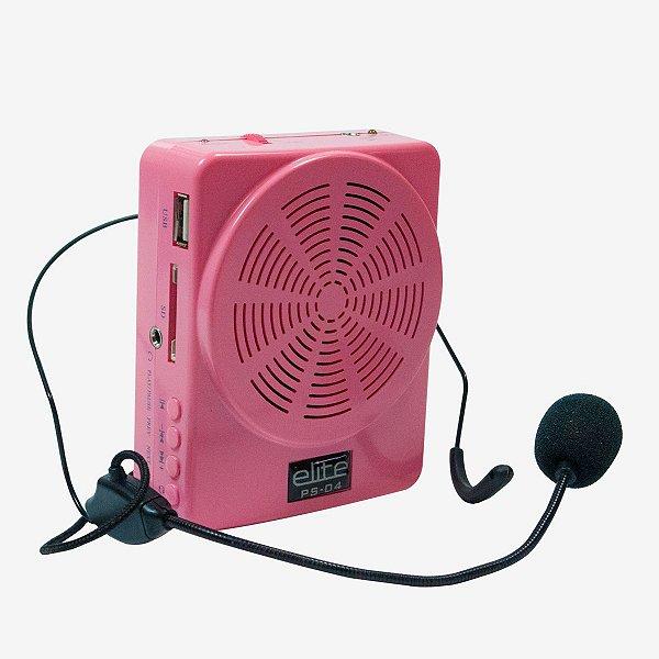 Sistema De Comunicação Portátil Com Microfone Headset Turbo - USB - Rosa  PS-04 PCP