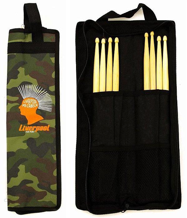 Bag de Baquetas Liverpool Compacta Camuflada COM02