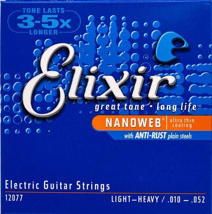 Encordoamento Guitarra Elixir Nanoweb Light-Heavy 10-52