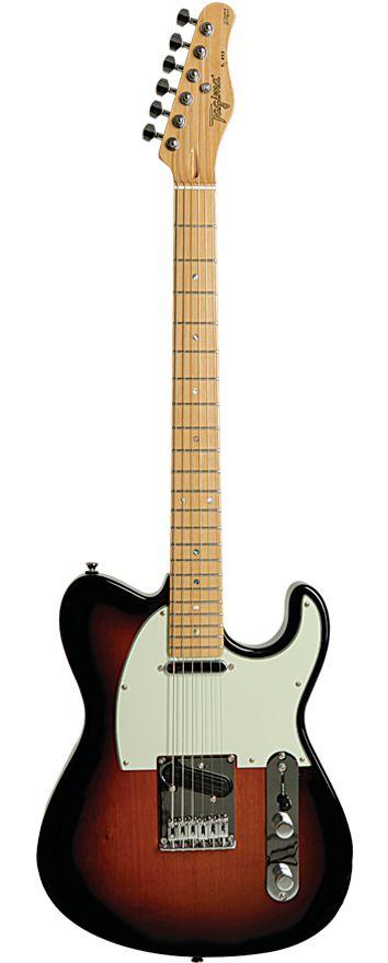 Guitarra Tagima T855 Vermelho Metálico com Escudo Verde Menta