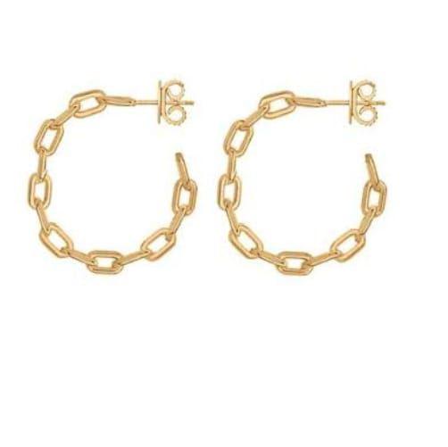 Brinco Argola Inspired Cartier P - Folheado a Ouro