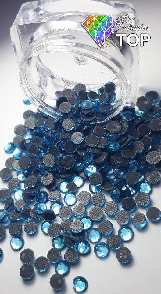 Strass cor azul claro 4mm - 100 unidades