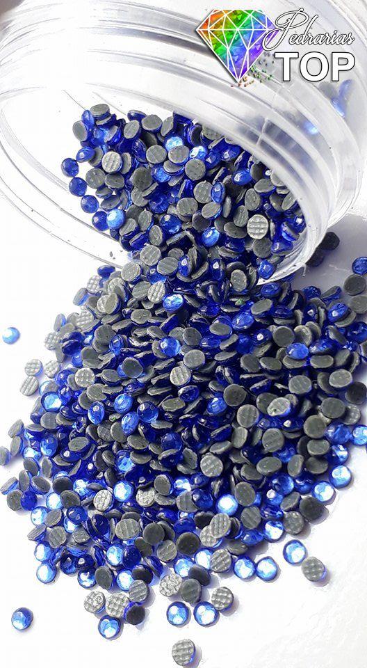 Strass coreano cor azul 1.8mm - 500 unidades