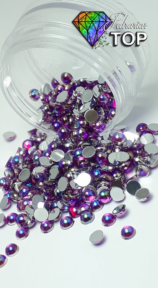 Pedra da lua lilas furta cor 3mm - 100 unidades