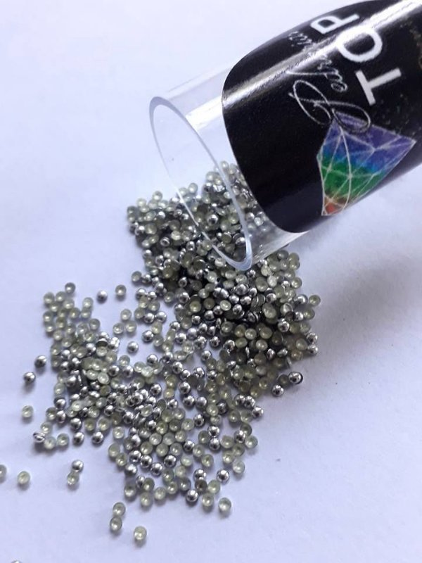 Dome prata 1.5mm - Aprox. 500 unidades