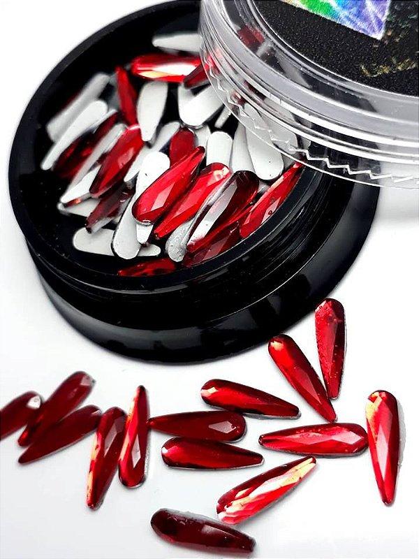 Gota rivoli vermelha 3x10 - 50 unidades