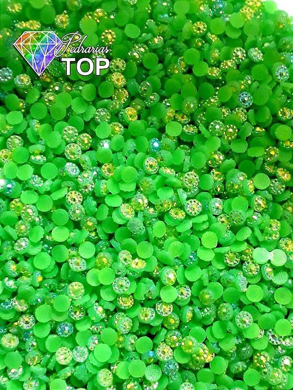 Margarida verde limão 4mm c/ 100 unidades