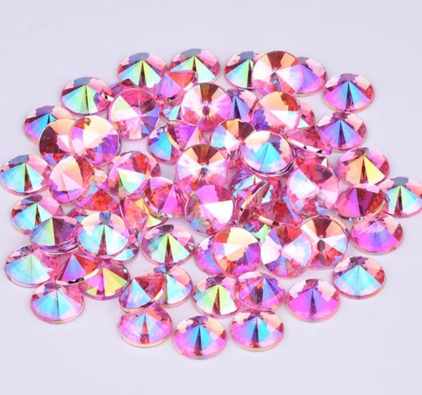 Pedra rivoli  rosa 3,5mm - QUALIDADE MASTER - 30 unidades