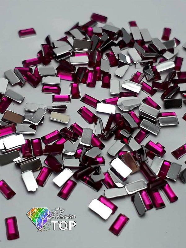Retângulo pink 1,5 x  3 mm - Aprox. 100 unidades