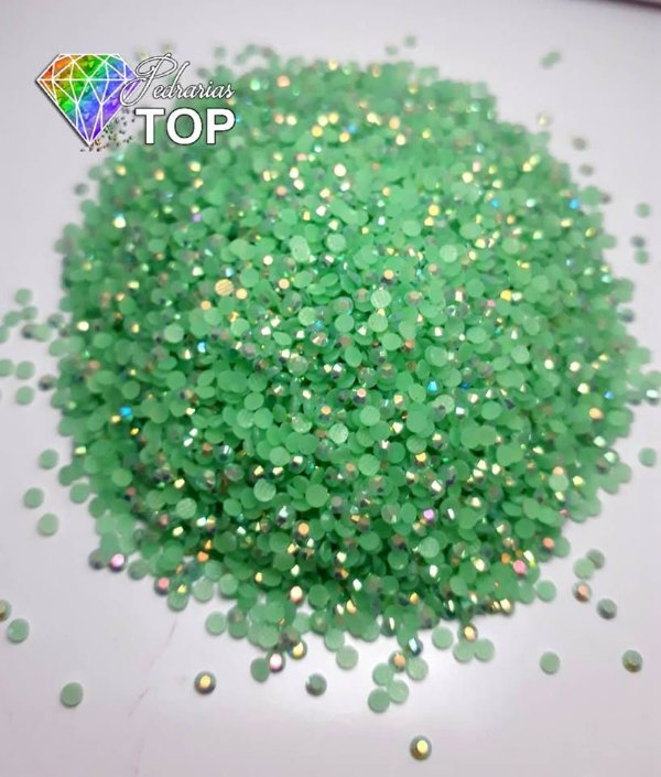 Strass nude verde claro 1.8mm - Aprox. 500 unidades