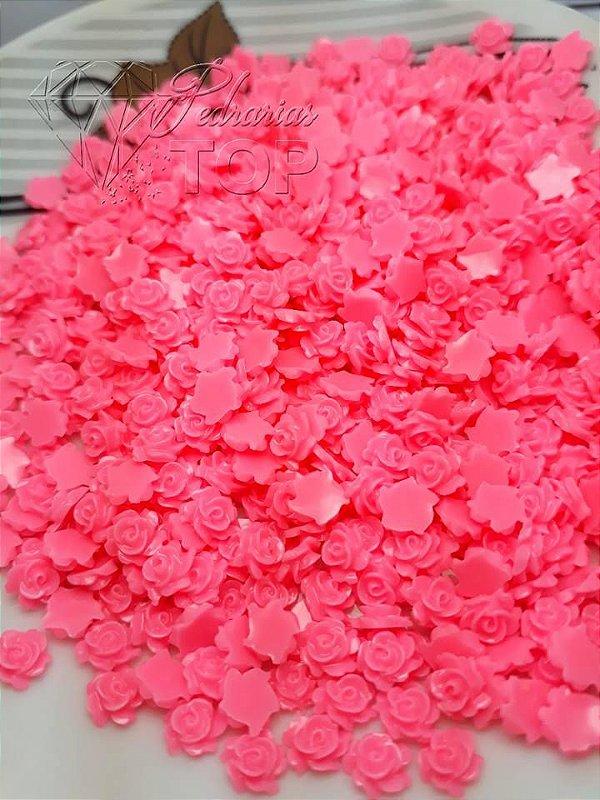Rosas 3d cor-de-rosa 5mm - 30 unidades