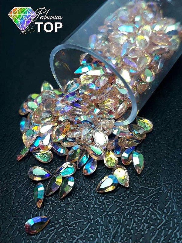Pedra cristalina formato gota 3x5 c/10 un. -  REF. 005