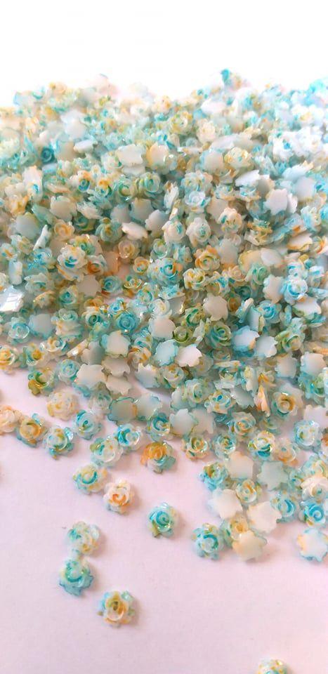 Rosa luxo 3d marmorizada azul 4,5mm - 30 unidades