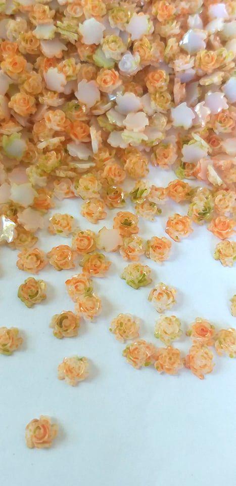 Rosa luxo 3d mesclada amarela 4,5mm - 30 unidades