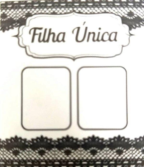 Cartão filha única ref. 0014- 100 unidades (Não precisa pasta L)
