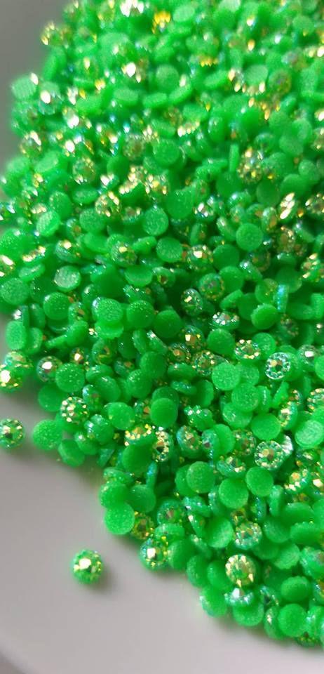 Margarida verde limão 3mm c/ 150 unidades