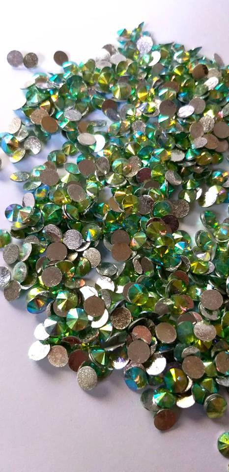 Rivoli redondo verde ab 6mm - 30 pcs