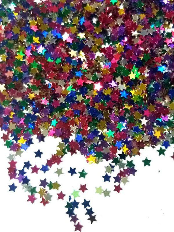 estrelinha para decoração cores variadas 3mm