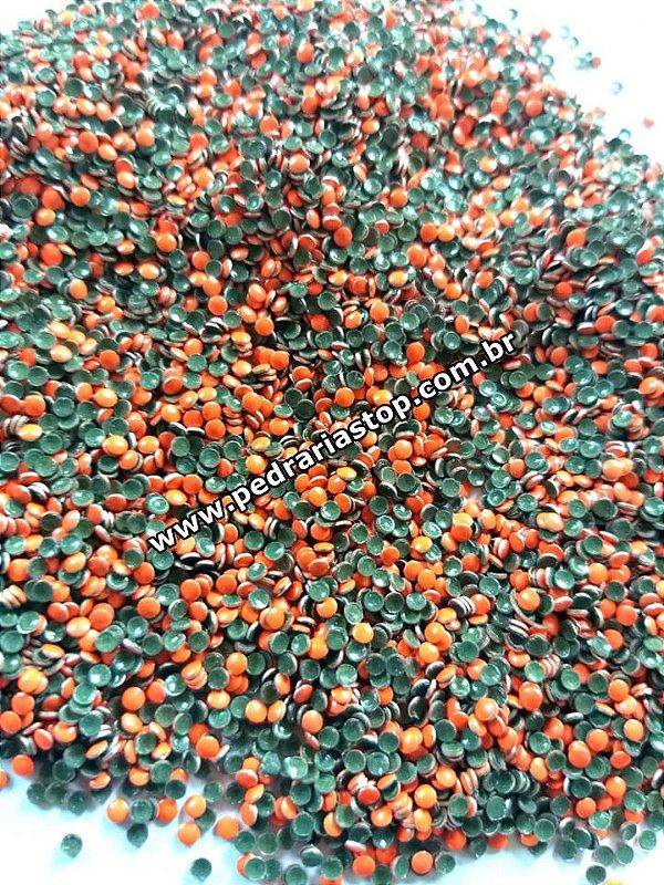 Chapinha redonda laranjada neon 2mm c/ 500 unidades