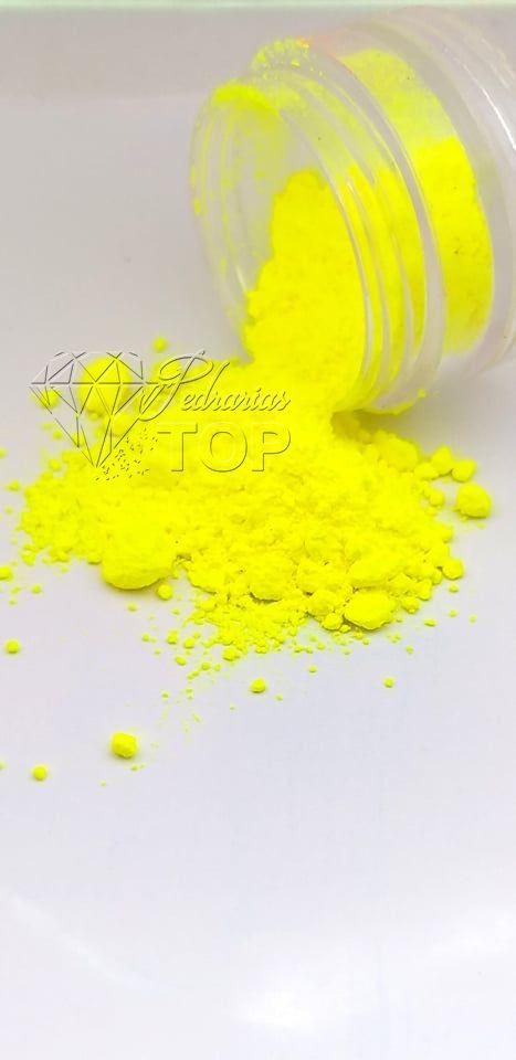 Pigmento ultra fino para unha amarelo neon fluorescente