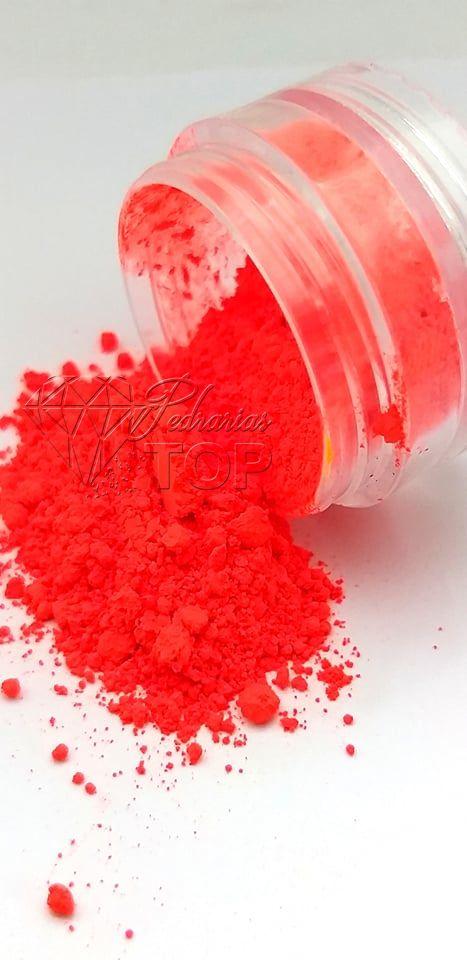Pigmento ultra fino para unha vermelho neon fluorescente