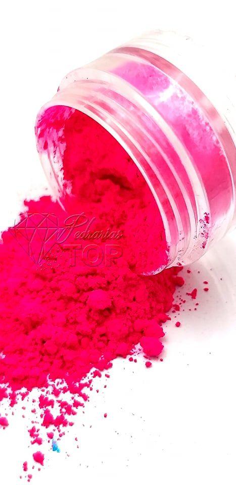 Pigmento ultra fino para unha rosa cerize neon fluorescente
