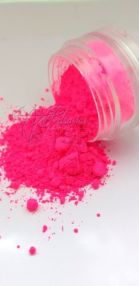Pigmento ultra fino para unha rosa neon fluorescente