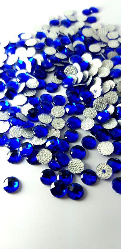 Chaton redondo azul bic 6mm - 30 unidades