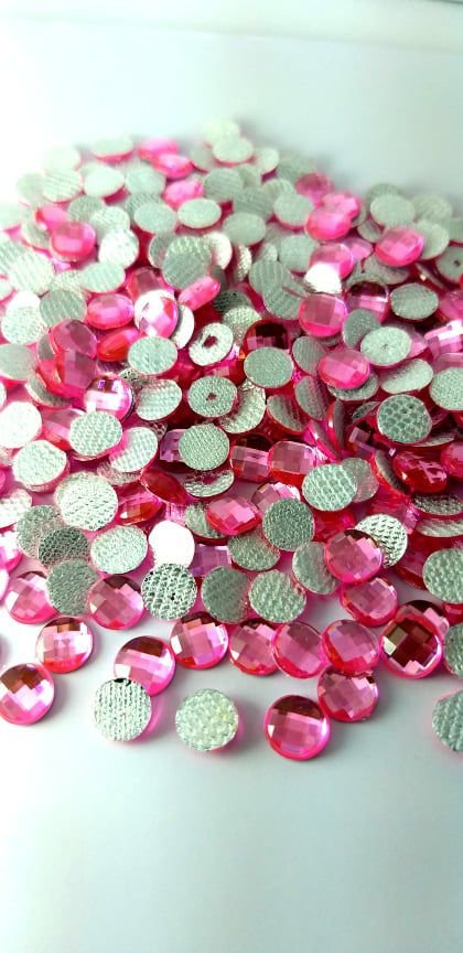 Chaton redondo rosa  6mm - 30 unidades
