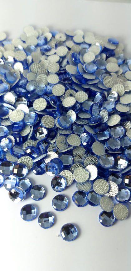Chaton redondo azul claro 6mm - 30 unidades