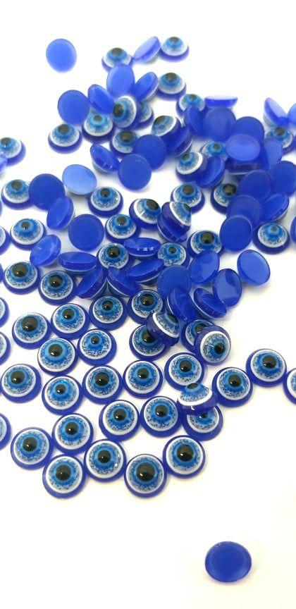 Pedra olho grego cor azul bic 4,5mm - 10 pcs