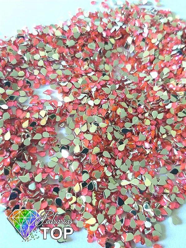 Gotinha rosa neon 2mm - Aprox. 100 pcs
