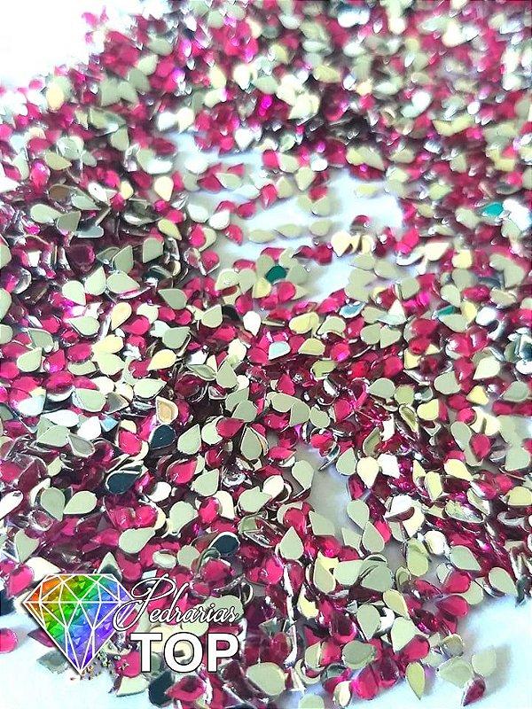 Gotinha rosa pink 2mm - Aprox. 100 pcs