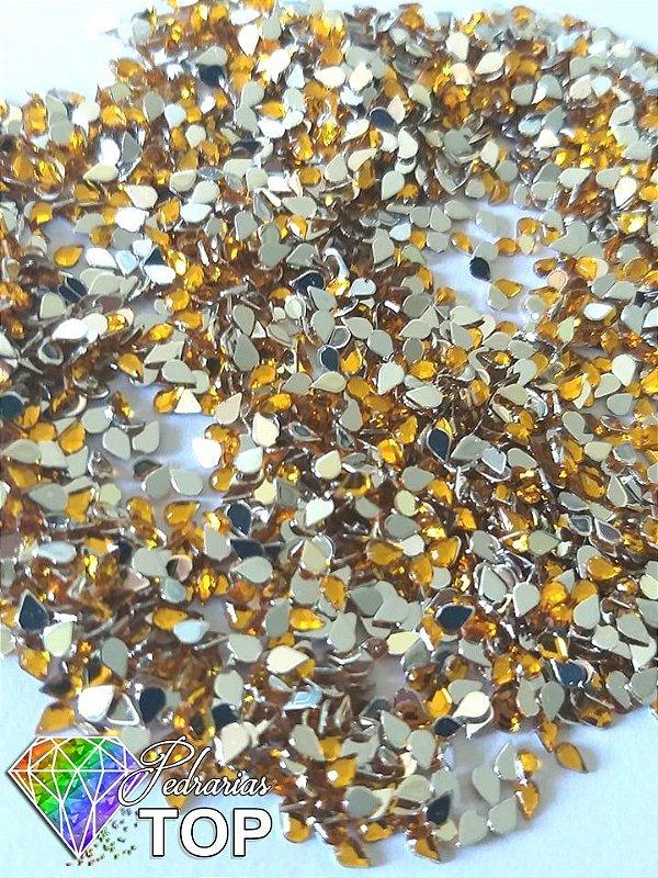 Gotinha dourada 2mm - Aprox. 100 pcs