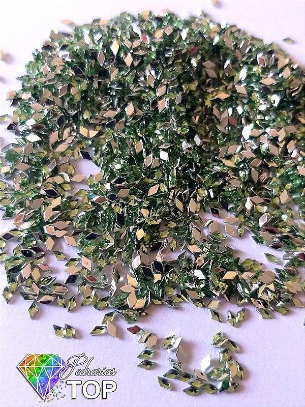 Losango verde 2.3mm - Aprox. 100 pcs