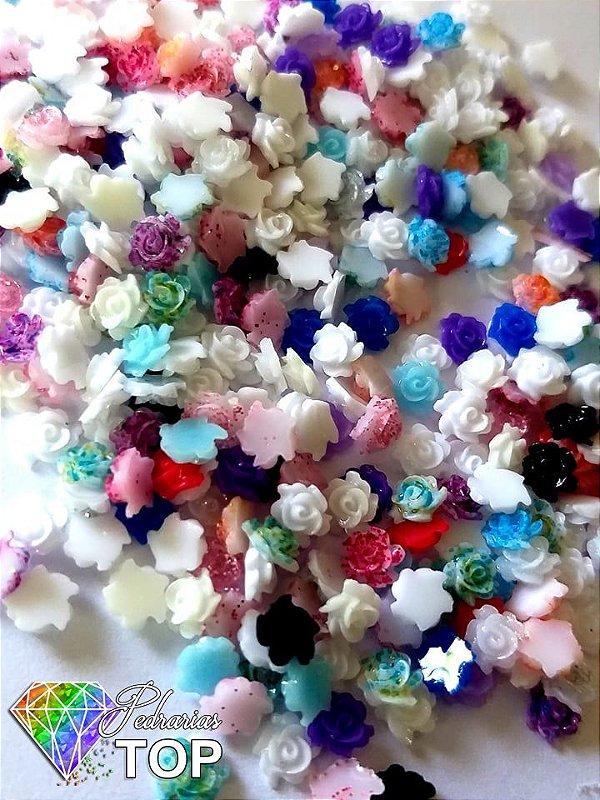Rosa 3d mix de cores c/ aprox.30 pcs