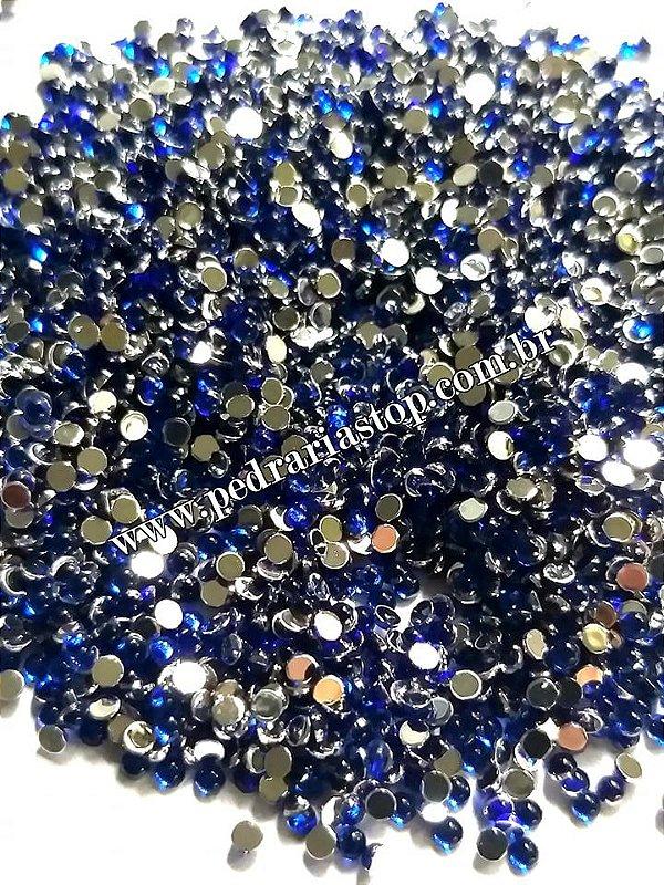 Pedra da lua azul bic 2mm - Aprox. 200 pcs