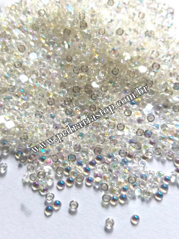 Pedra da lua cristal furta cor 2mm - Aprox. 200 pcs