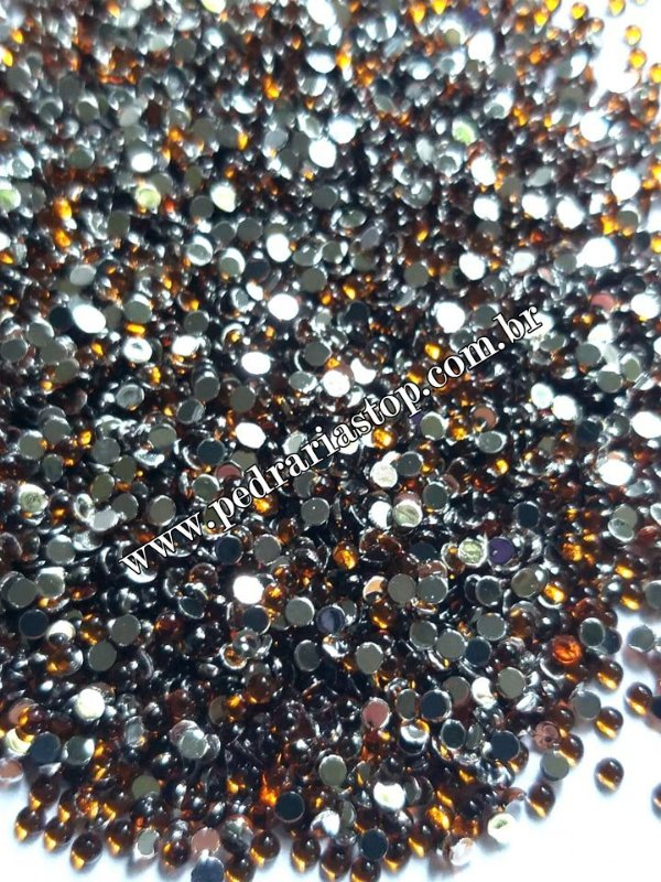 Pedra da lua marrom 2mm - Aprox. 200 pcs