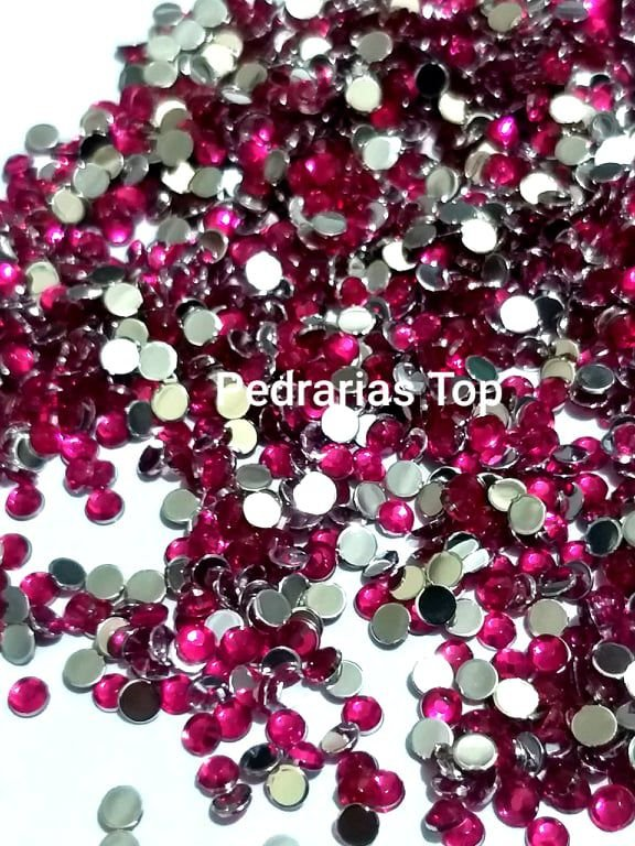 Chaton sextavado pink 3mm - Aprox. 50 pcs