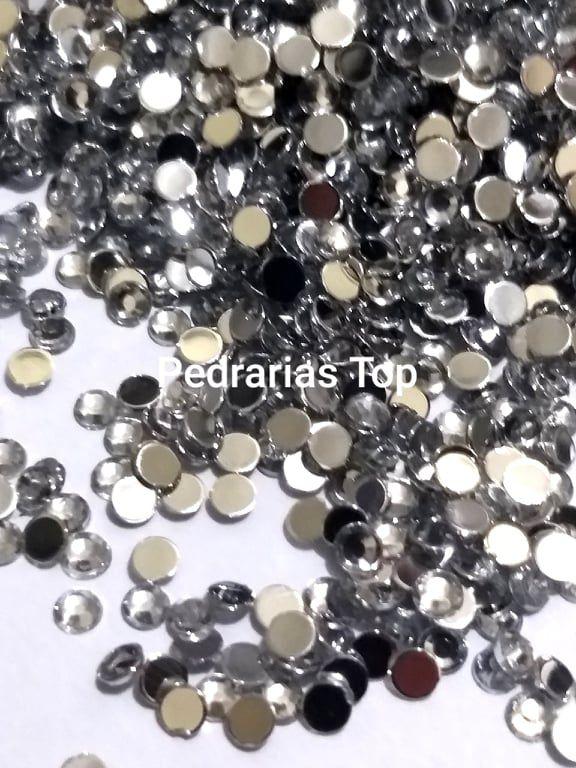 Chaton sextavado cristal 3mm - Aprox. 50 pcs