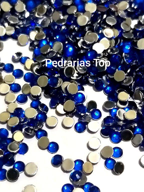 Chaton sextavado azul 3mm - Aprox. 50 pcs