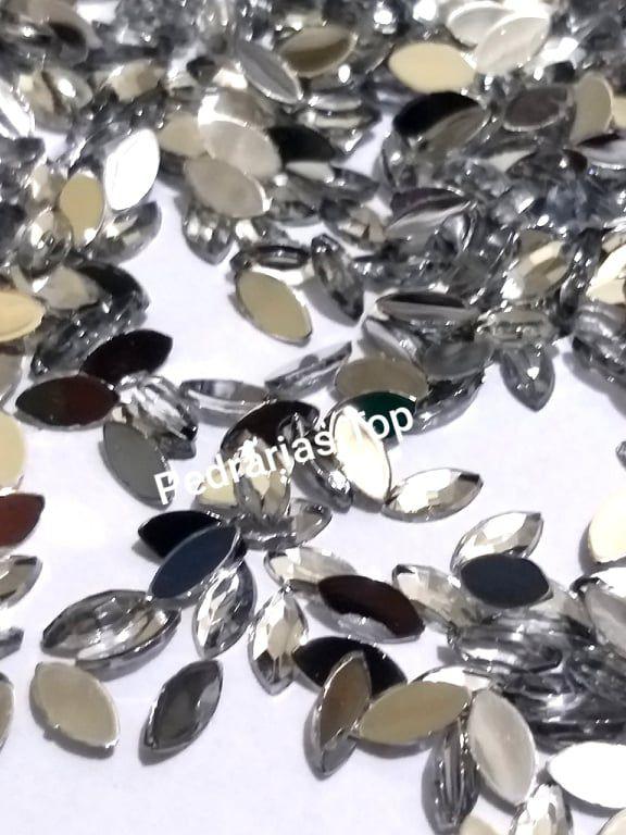 Navete espelhado cristal 4x8 c/ 30 pcs