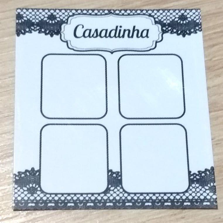 Cartão Casadinha  c/  100 unidades Ref. 110 - Dispensa uso pasta L