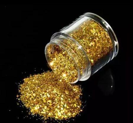 Glittler holográfico - Dourado