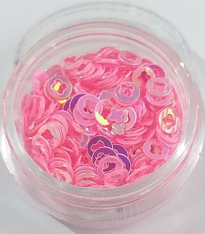 Argola para decoração c/ potinho - Rosa claro AB