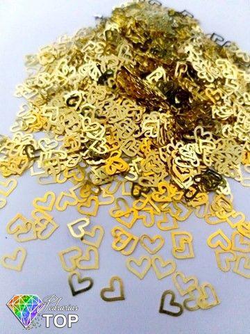Metal para decoração coração c/ 50 unidades